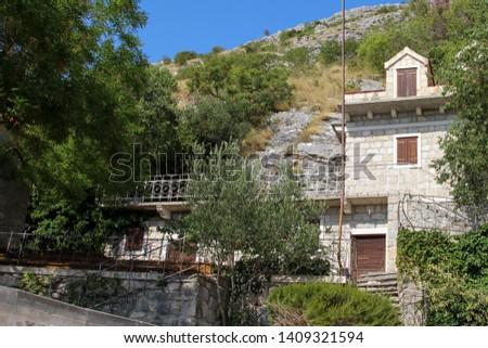 Upper Podstrana, village with its old stone houses. Croatia #1409321594