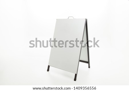 Blank a-frame sign with copyspace on white background