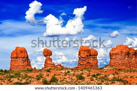 Red rock canyon desert landscape. Sandstones in red rock canyon desert. Red rock canyon desert sandstones. Red rock canyon sandstones landscape #1409465363