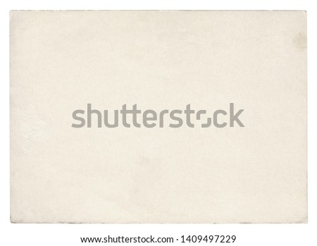 Vintage paper background isolated - (clipping path included)  #1409497229