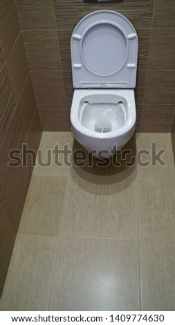 Toilet bowl in the toilet. Toilet in the toilet, view from the top #1409774630