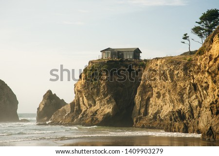 A Beautiful View of the California Coastline along State Road 1. #1409903279