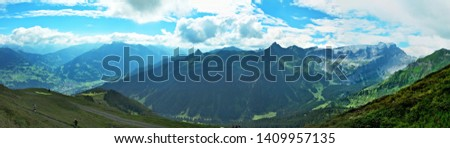 Austrian Alps-panoramic view from the Golmer Joch #1409957135