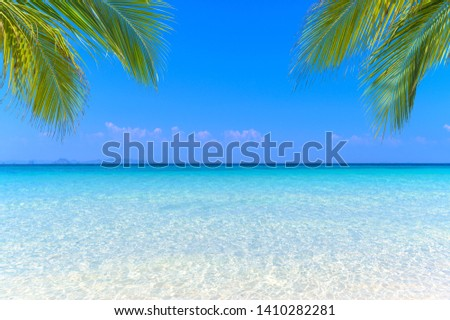 Sea view tropical sea with summer background. #1410282281