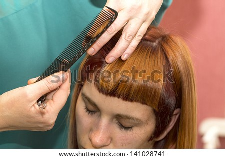 girl doing makeup in the salon #141028741