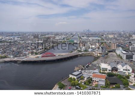 Nagoya, Japan – May 12, 2019: City view of Nagoya, Japan #1410307871