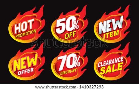Hot sale promotion label tag illustration design  Royalty-Free Stock Photo #1410327293