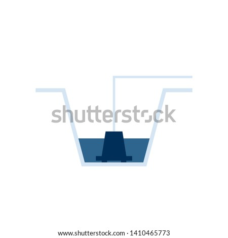 Sump pump icon. Clipart image isolated on white background