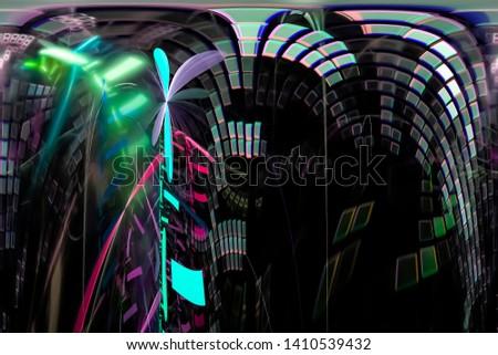 abstract digital fractal fantasy design  magic #1410539432