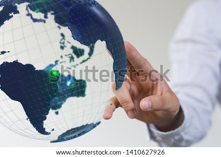 world wide connection in hand #1410627926