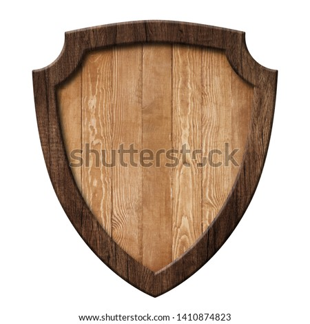 Defense protection shield or board made of natural wood with dar #1410874823