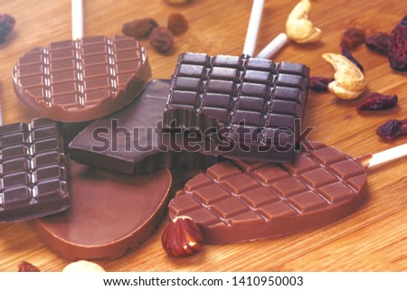 Handmade Chocolate Handmade dark milk chocolates #1410950003