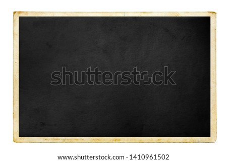 Blank old photo isolated on white Royalty-Free Stock Photo #1410961502