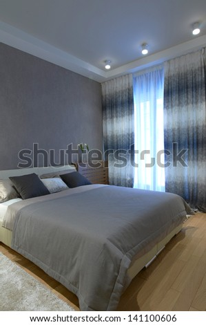 Modern bedroom interior #141100606