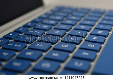Zoomed in view of keyboard  #1411047296