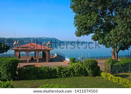 Beautiful Upper lake, (bada talab). picture taken from VIP road, Bhopal, Madhya Pradesh, India