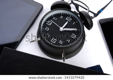 Items of business or education or office conceptual on white background #1411079420