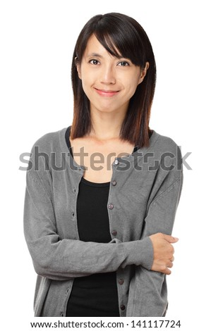 Casual asian woman isolated on white background #141117724