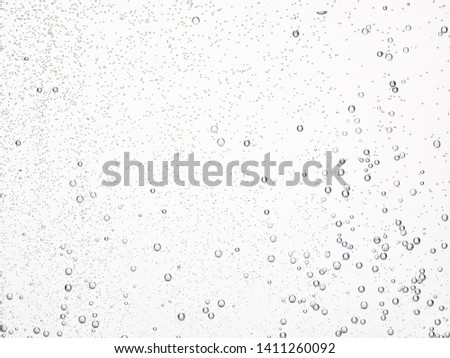soda water bubbles sparkling transparent Royalty-Free Stock Photo #1411260092