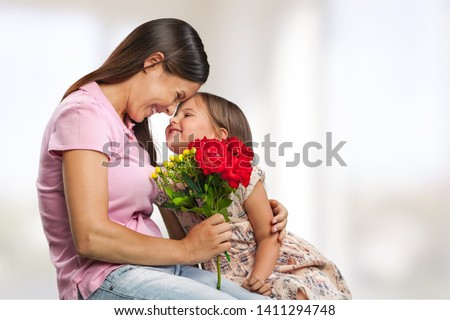 Happy Mother and daughter hugging #1411294748