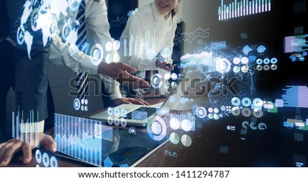 Data analytics concept. Financial technology. Fintech. #1411294787