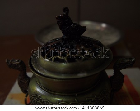 Dark Bronze Chinese Style Incense Burner On the Altar , Incense Pot #1411303865