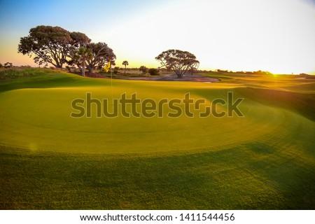 Sunrise on the golf course #1411544456