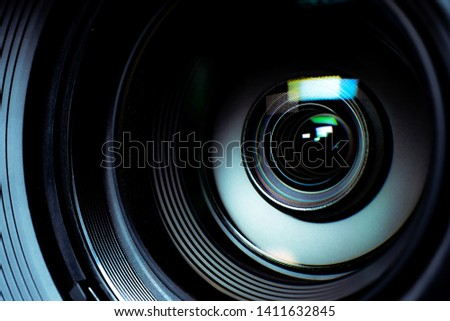 Video camera Movie level, The zoom lens is working. #1411632845