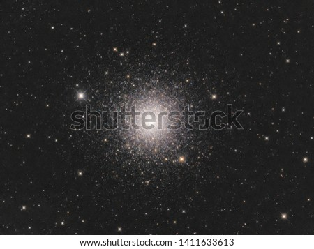 A real image of M3 globular cluster as one of the brightest and beautiful globular cluster in the Northern sky taken through telescope #1411633613