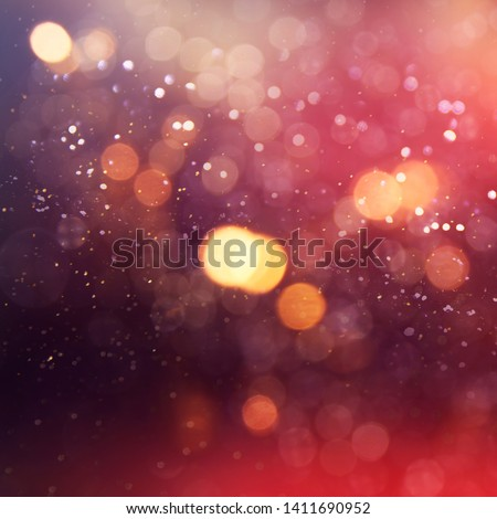 Texture background abstract black and white or silver Glitter and elegant for Christmas. Dust white. Sparkling magical dust particles. Magic concept. Abstract background with bokeh effect. #1411690952