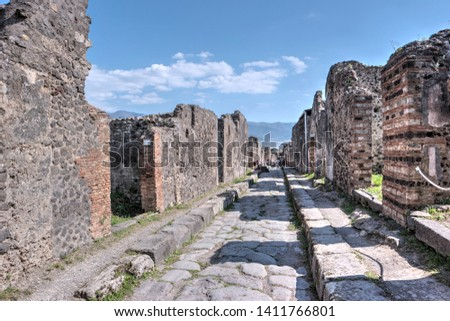 Pompeii, ancient Roman city in southern Italy #1411766801