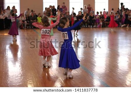 Ballroom dancing competitions, solos, girls. European program. #1411837778