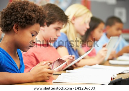 Pupils In Class Using Digital Tablet #141206683