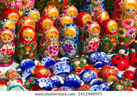 Flea market, Wooden products, folk art and creative expressions of contemporary self-taught artists #1412448995