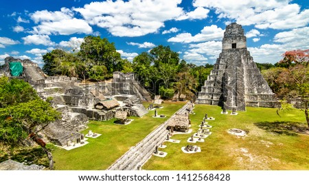 Temple of the Great Jaguar at Tikal. UNESCO world heritage in Guatemala #1412568428