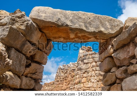 Nuraghe Palmavera, Alghero, Sardinia, Italy.  is an archaeological site located in the territory of Alghero, Sardinia. Built during the Bronze and the Iron Ages. #1412582339