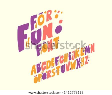 For fun font set design italic version Royalty-Free Stock Photo #1412776196