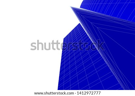 modern 3d architecture, vector illustration #1412972777
