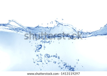 water splash isolated on white background,water  #1413119297