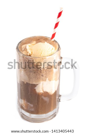 Root Beer Float Isolated on a White Background #1413405443