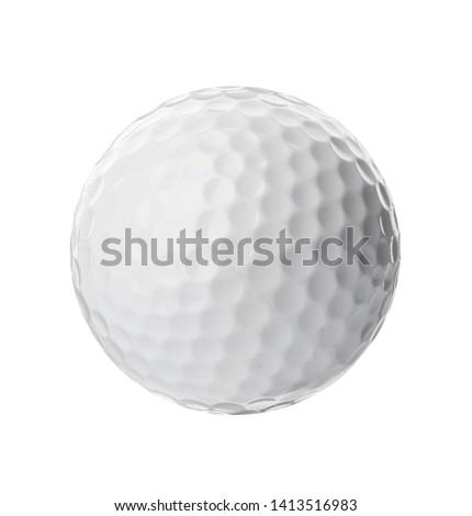 Golf ball on white background. Sport equipment #1413516983