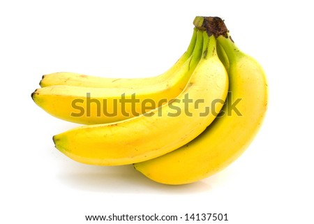 yellow bananas isolated on white #14137501