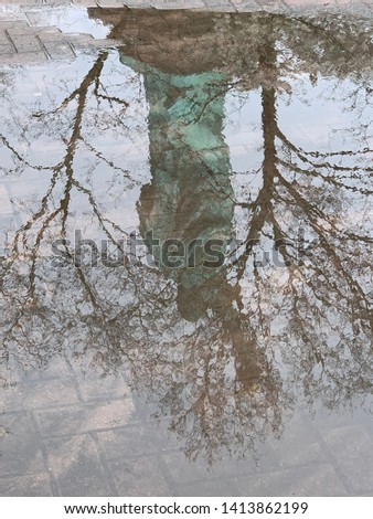 Reflection of Statue of Liberty #1413862199