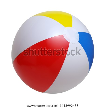 Beach ball isolated on a white background #1413992438