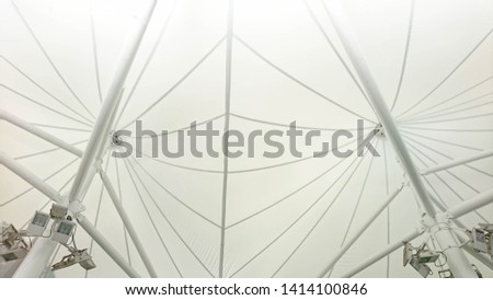 Marquee roof, white fabric, steel dome roof, white roof, sun protection, used for temporary shops with lighting #1414100846