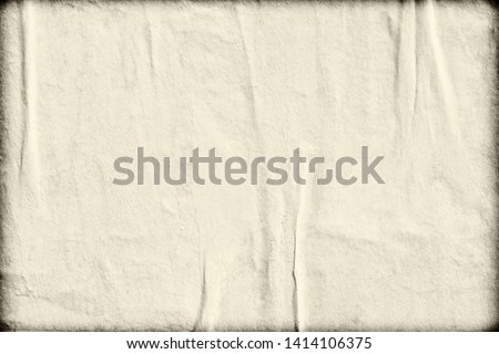 Blank brown creased crumpled paper texture background old grunge ripped torn vintage collage posters placard #1414106375