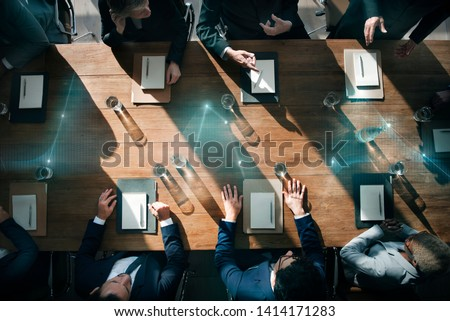 Business people in a meeting Royalty-Free Stock Photo #1414171283