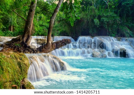 Kuang si waterfall is the biggest & most gorgeous falls in Luang Prabang. The purity water & the glamour of nature make this waterfall well-known & attract people from all around the world to visit.