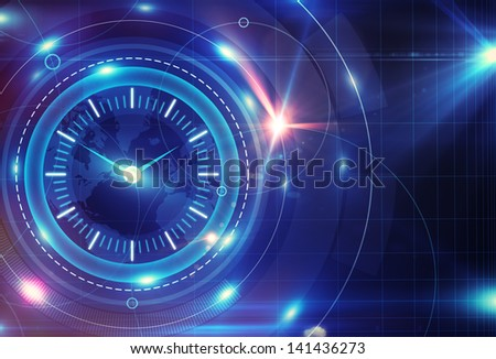 digital clock interface