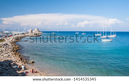 beautiful view of the Mediterranean sea #1414535345